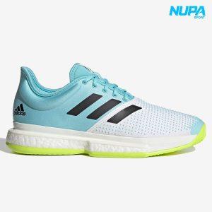 giày tennis adidas solecourt boost - cloud white/ core black/ solar yellow