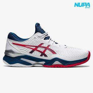 giày tennis asics court ff 2 - white/ mako blue
